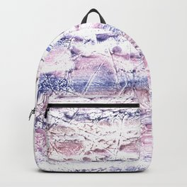 Blue purple marble hand-drawn watercolor pattern Backpack