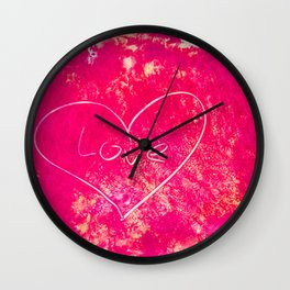 Let Love In Acrylic Wall Clock