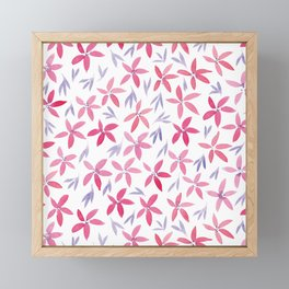 Floral #3 | Original Red and Purple Palette Framed Mini Art Print