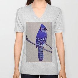 Blue Jay Bird Unisex V-Neck