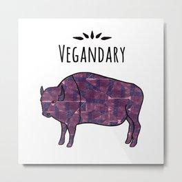 Vegandary Metal Print