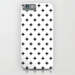 Black Swiss Cross iPhone Case