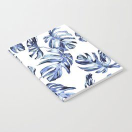 Blue Palm Leaves Notebook