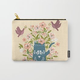 Happy Birds Making Things Beautiful Together Carry-All Pouch