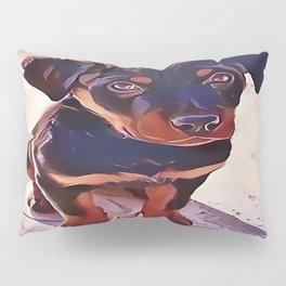 Rottweiler Puppy Born To Be Wild Pillow Sham