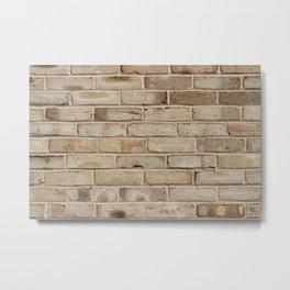 Brown/Tan Brick Wall Metal Print