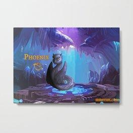 Dragonlings of Valdier: Phoenix Metal Print
