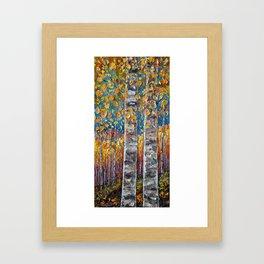 Colourful Autumn Aspen Trees Framed Art Print