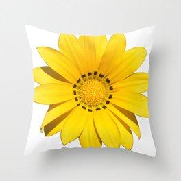 Yellow Summer Flower Throw Pillow