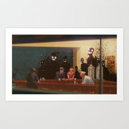 The Nighthawks horror Art Print