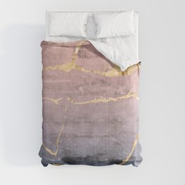 Watercolor Gradient Gold Foil Comforters