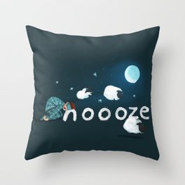 Snoooze Throw Pillow