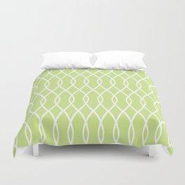 Crisp Green Swirl Pattern Duvet Cover