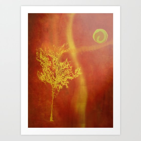 The moon and I Art Print