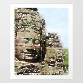 Bayon Temple, Cambodia Art Print