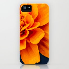 Marry Me Gold and Navy Marigold iPhone Case