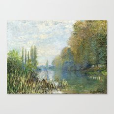 The Banks of The Seine in Autumn by Claude Monet Canvas Print