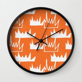 Safari - Bush Plant Orange Wall Clock