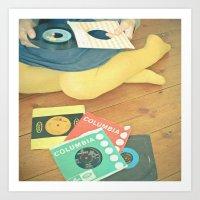 vinyl Art Prints featuring Vinyl by Cassia Beck