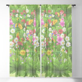 SPRING IS IN THE AIR Sheer Curtain