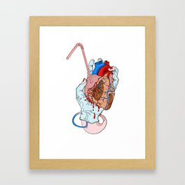 fresh heart Framed Art Print