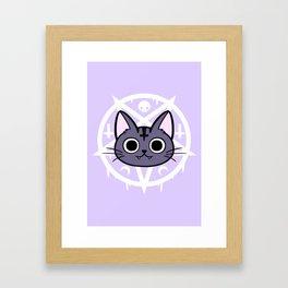 Black Meowgic 02 Framed Art Print
