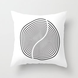 Wood section Throw Pillow
