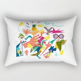 Illustration -between coffee and tea Rectangular Pillow