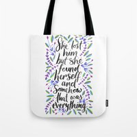 1989 Tote Bags featuring Hidden Message 1989 by IndigoEleven