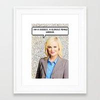 leslie knope Framed Art Prints featuring Leslie Knope by Hannah