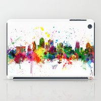 kansas city iPad Cases featuring Kansas City Skyline by artPause
