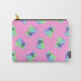 Topsy Turvy Owls Pink Carry-All Pouch