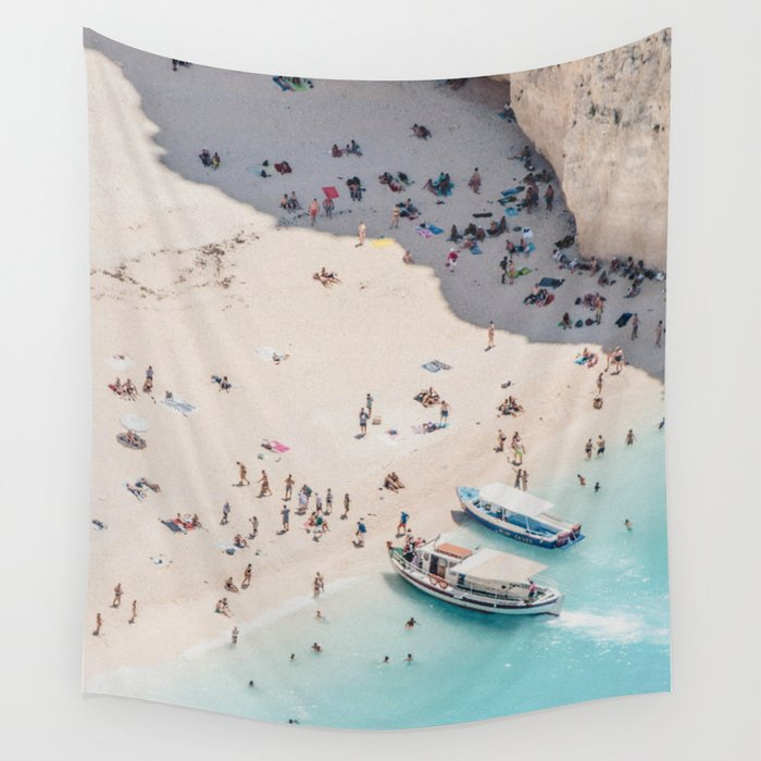 to the beach Wall Tapestry