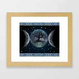 Esoteric Tripple Moon Framed Art Print