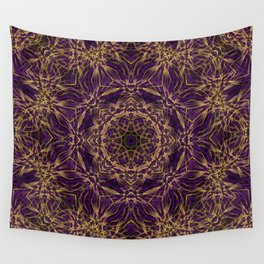 Purple Mandala Hippie Pattern Wall Tapestry