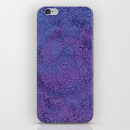 Ultra Violet Retro Mandala Design iPhone Skin