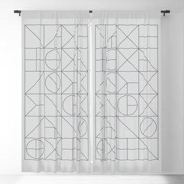 Mid Century Geometric 03 Blackout Curtain