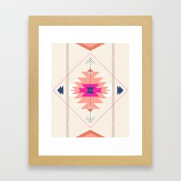 Kilim Inspired Framed Art Print