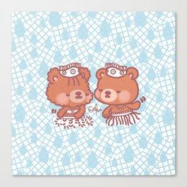 Ginger and Bongo - Ula Ula Canvas Print