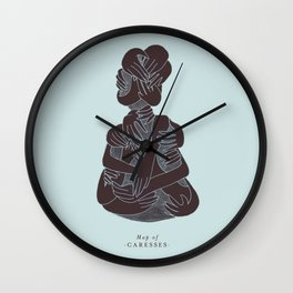 Map of caresses Wall Clock