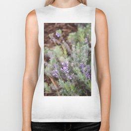 Lilac Flower Biker Tank
