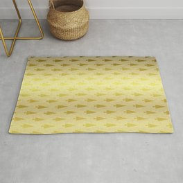 Gold Christmas Forest Rug