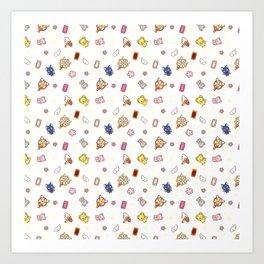 cardcaptor sakura cute stuff pattern Art Print