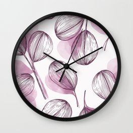 Round Leaves 7 Wall Clock