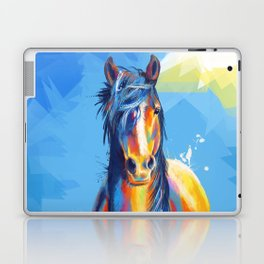 Horse Beauty - colorful animal portrait Laptop & iPad Skin
