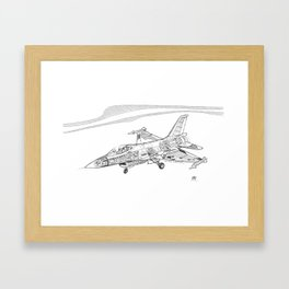 F16 Cutaway Freehand Sketch Framed Art Print