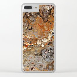 Earth Tones Lava Flow Clear iPhone Case