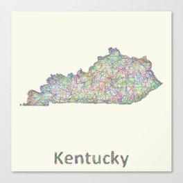 Kentucky map Canvas Print
