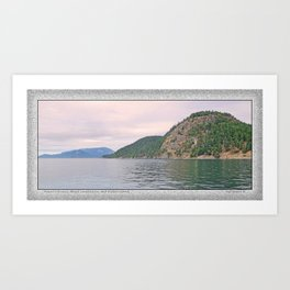 MOUNT ENTRANCE, MOUNT CONSTITUTION, AND BLAKELY ISLAND Art Print