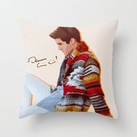 darren criss Throw Pillows featuring Darren for Hero by byebyesally